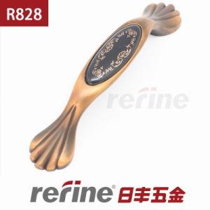 Poignée en alliage de zinc de traction de meubles de nouvelle conception (R-828)