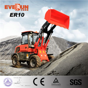 ER10 de multifunctionele MiniLader van het Wiel met de Emmer van de Sneeuw