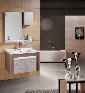 浴室用キャビネットの虚栄心新しいPVC浴室用キャビネット(W-221)