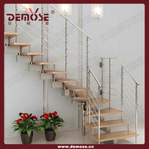 Het binnenlandse houten ontwerp van de trap van het roestvrij staal van stappen dms 4023 het - Houten trapontwerp ...