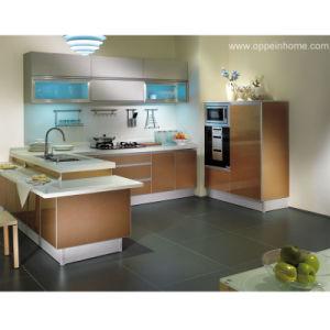 Estilo Moderno gabinete de cocina (OP11-L063)