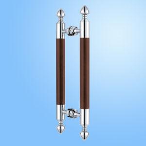 Punho de porta da tração de Glas do aço inoxidável da qualidade (FS-1829)
