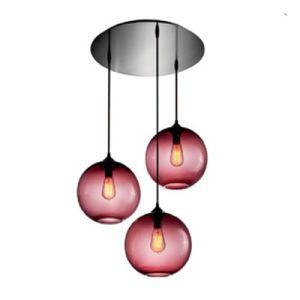lampe de plafond de boule en verre de lampe pendante de lustre lampe de plafond de boule en. Black Bedroom Furniture Sets. Home Design Ideas