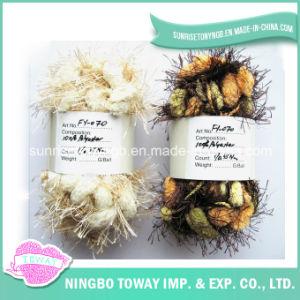 Tricot bébé personnalisés polyester Hairs POM-POM Fancy Yarn (FY-070)