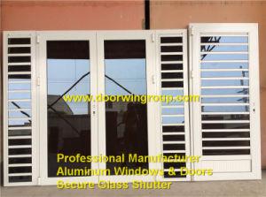 china ventanas de obturacin de vidrio seguro de aluminio de alta calidad ventanas de aluminio de lamas de aluminio con puertas de vidrio francesas
