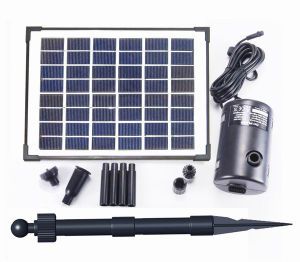 Fountainのための8W Flow Adjustable Solar Brushless Pump Kit