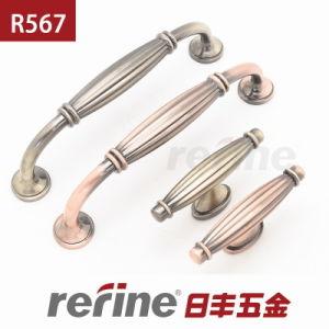 Poignée en alliage de zinc de meubles avec le prix chaud (R-567)