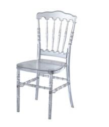 Chaise transparent en r sine acrylique napoleon chaise for Chaise en acrylique