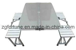 Tabela de dobradura e cadeira de alumínio (ZDZY)