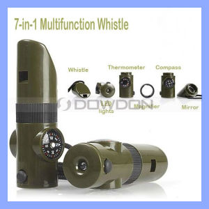 MilitärStyle Multifunctional Survival Whistles für Camping und Travelling (WHISTLE-002)