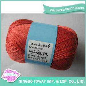 O algodão 100% mercerizou o fio para confeção de malhas de tecelagem da linha do Crochet na esfera
