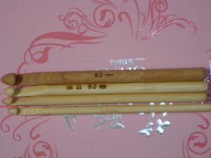 Agulha de confeção de malhas de bambu