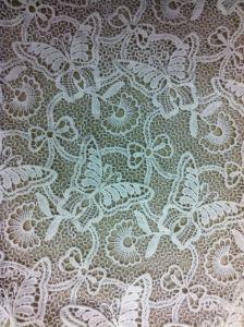 Tissu 100% de lacet de coton de mode pour la robe de vêtement (BP-024)