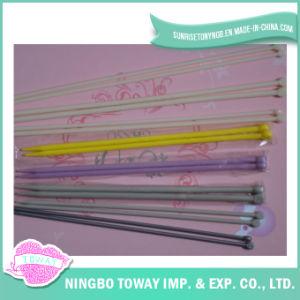 Plastique circulaire personnalisé bon marché de couleur tricotant à la main des pointeaux