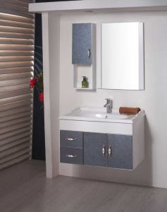PVC&Glassのデッサンの浴室用キャビネットの浴室の虚栄心