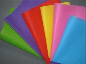 Tecido colhido com adesivo colorido (TR-006)