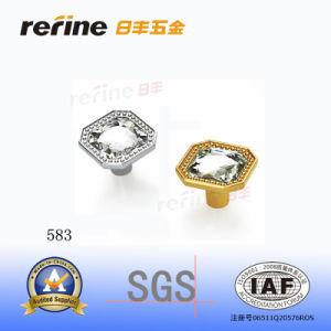 Bouton en alliage de zinc de Cabinet de diamant (Z-583)