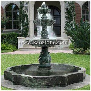 Fonderie de jardin ext rieur fontaine d 39 eau sculpt e en for Fontaine galet exterieur