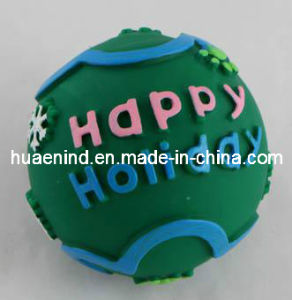 Hundevinylton-glückliches Feiertags-Spielzeug, Haustier-Spielzeug