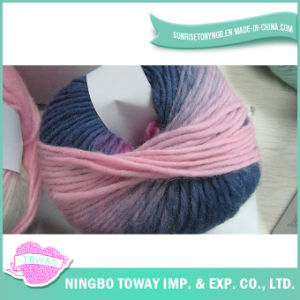 Slub Weaving respirável Cashmere Wool Knitting Fios fantasia