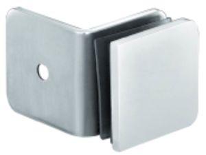 Parede do chuveiro do cromo de 90 graus às braçadeiras de vidro (FS-532)