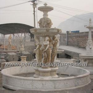 fuente de agua de mrmol de piedra para la escultura del jardn syf