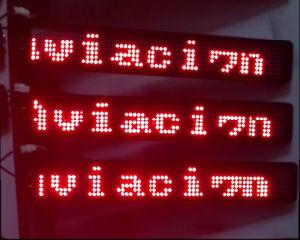 Afficheur LED rouge de bus des textes P12mm de qualité (7*80)