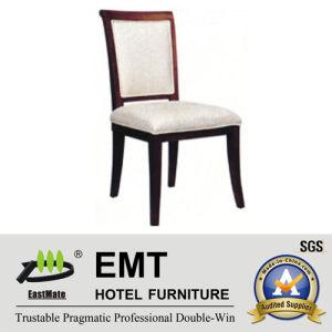 Chaise d'hôtel en bois plein dinant la chaise (EMT-HC121)