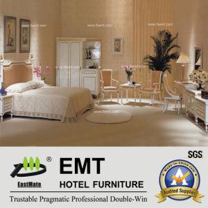 Ensemble de chambre à coucher blanc pur gentil de meubles d'hôtel de modèle (EMT-A0658)
