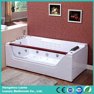 Bañera de acrílico del BALNEARIO del masaje con la almohadilla cómoda (TLP-675)