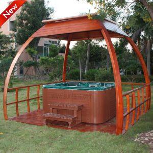 Het hete Sale Waterproof Outdoor SPA Hete Bamboe Gazebo van de Ton (SR881)