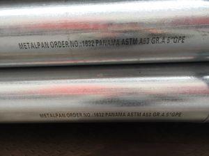 ASTM A53에 의하여 직류 전기를 통하는 강관
