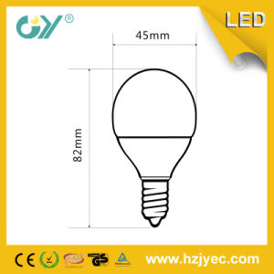 Ampoule de G45 3W 240lm CE&RoHS&SAA E27 DEL