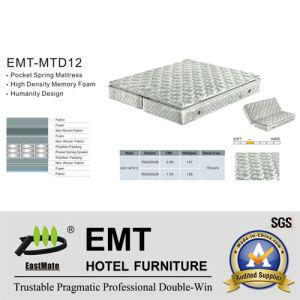 Matelas de première qualité de chambre à coucher d'hôtel (EMT-MTD12)