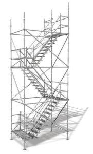 Cuplock 비계 시스템 4개의 다리 계단 탑 Cuplock 비계 시스템 4개의 다리 계단