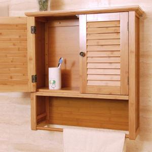 pared de bamb moderna montada gabinete de almacenamiento