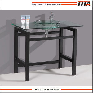 Gabinete de ba o de vidrio cristal del lavabo del fregadero cristal gabinete de ba o de - Lavabos de vidrio ...