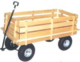 Carrito de jard n de madera tc1826 carrito de jard n for Carritos de madera para jardin