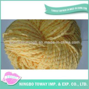 Tricotando manualmente o fio extravagante de tecelagem -5 do algodão do poliéster da escada