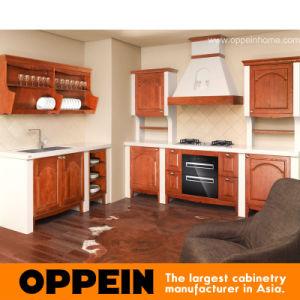 Cabina de cocina clásica de la madera contrachapada de Oppein Blum (OP10-X088)