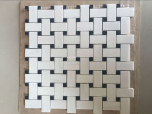 Mattonelle di mosaico di marmo bianche di disegno competitivo del mattone sulla vendita ...