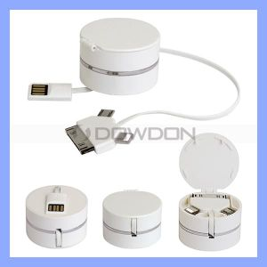 3 in 1 USB Data Charger Synchronisierung Cable für iPhone5/5c/5s iPhone 4/4s Samsung mit Cable Holder (Cable-02)