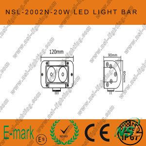 Barre de travail de LED, guide optique 10V-30V de travail tous terrains imperméable à l'eau du camion LED