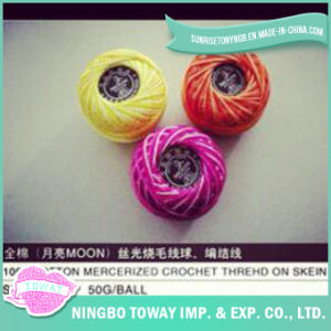 100% Coton Cross Stitch Tissage du fil de laine à tricoter Fils