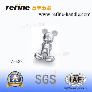 Bouton en alliage de zinc de dessin animé de meubles de matériel (Z-532)
