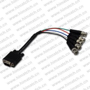 HD15 VGA à 5 BNC Câble Rgbhv Câble vidéo