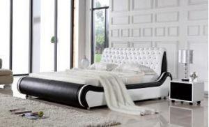 lit am ricain noir et blanc p8071 de lizz de mod le de chambre coucher de cuir de lit de cuir. Black Bedroom Furniture Sets. Home Design Ideas