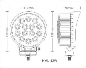 "Nouveaux arrivés 42W 4,5 ""Work LED Light/2800lm LED Light Work / Lampe de travail LED pour machines forestières"
