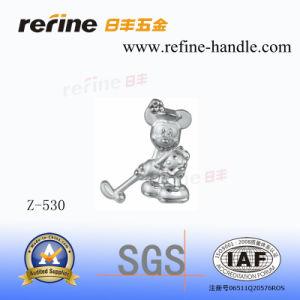 Molette en alliage de zinc de dessin animé de tiroir de matériel (Z-530)
