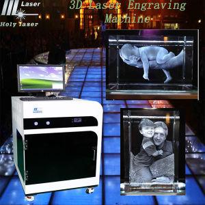 Célébration de Noël! Prix spécial! 2D haute fréquence / Crystal Laser Cadeau Photo 3D souterrain Machine de gravure (HSGP-2KC)